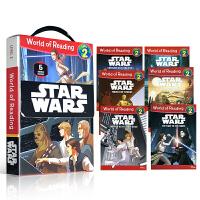 英文原版 Disney Star Wars World of Reading Level 2 星球大战科幻 6册盒装儿童故事图画书分级读物书籍