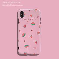 日韩文艺iPhone6s/7/8plus手机壳苹果 max软壳xr粉色潮女保护壳