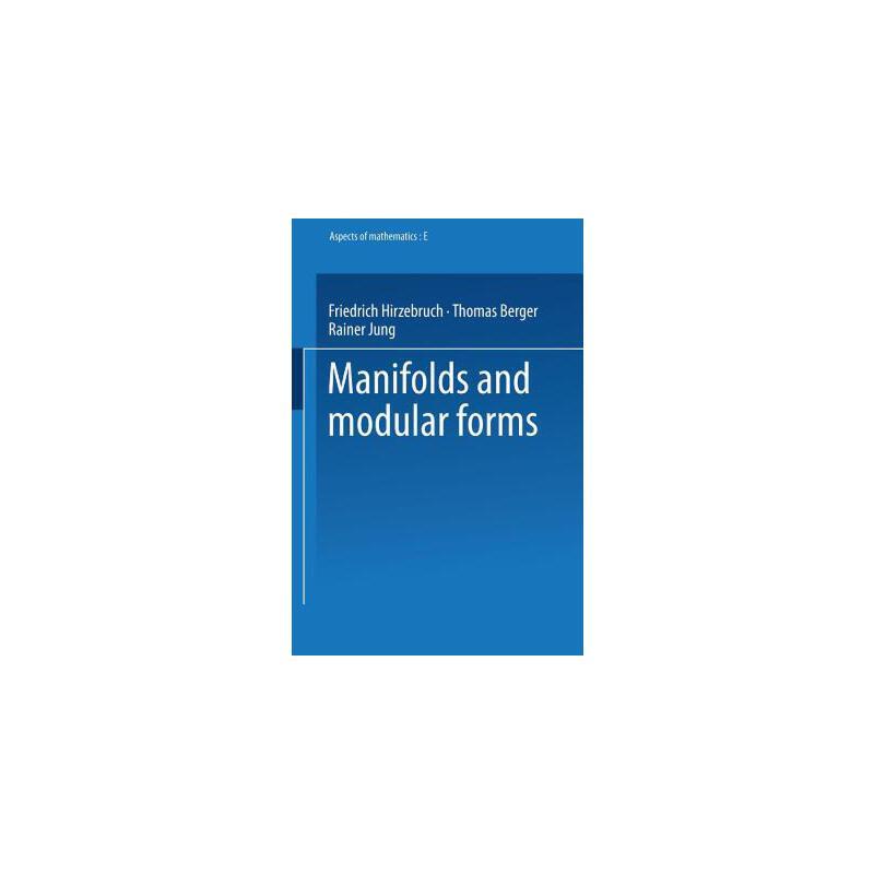 【预订】Manifolds and Modular Forms 预订商品,需要1-3个月发货,非质量问题不接受退换货。
