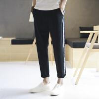 男士裤子夏季新款男修身休闲裤韩版潮流哈伦裤九分裤