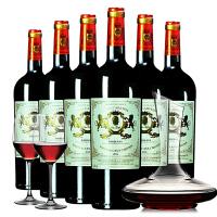法国原瓶原装进口红酒6支套装 波尔多AOC 干红葡萄酒整箱红酒整箱
