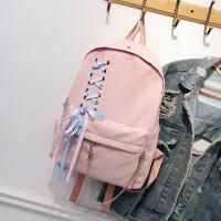 双肩包简约书包女学生韩版 校园高中学生背包森系百搭包包