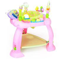 汇乐696多功能跳跳蹦跳椅婴儿坐椅健身架电子琴半岁6-12个月抖音