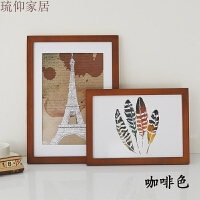 a4A3a2复古定制装饰画框十字绣照片装裱木质相片创意儿童简约相框实木海报画框 实木相框