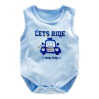 婴儿睡衣夏装 宝宝连体衣背心包屁衣棉哈衣1岁 新生儿衣服夏季