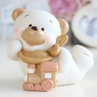意大利风格小白熊摆件简约现代家居装饰品儿童房柜台摆设生日礼物