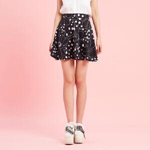 【2件2.5折到手价:12.25】美特斯邦威官方旗舰店短裙女士夏装韩版针织半身裙韩版学生潮流