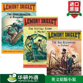 蒙斯尼奇的不幸历险系列3本套装 英文原版 A Series of Unfortunate Events 波特莱尔大冒险 电影原著小说 英文版进口儿童文学书籍