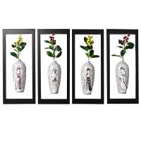 壁挂装饰 中式家装壁饰陶瓷挂瓶 客厅过道餐厅墙壁装饰立体壁挂水培花瓶