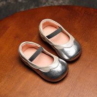 拥抱熊春秋女宝宝鞋学步鞋公主皮鞋单鞋软底婴儿鞋1-2-3岁