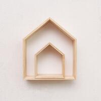 儿童房实木房子壁饰置物架挂饰儿童房间墙壁装饰