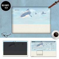 联想笔记本外壳贴膜710S Z50 S400惠普电脑 小猫卡通全套保护贴纸 SC-919 三面+键盘贴