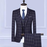 西服套装男职业商务正装修身男士西装三件套宴会结婚新郎伴郎礼服