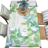 小清新餐桌布艺台布圆桌布方桌布加厚原创设计茶几桌布盖巾绿 假日。HOME