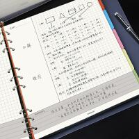 B5康奈尔笔记本小方格网格本活页本商务文具大学生课堂记录本子