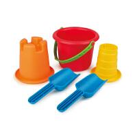 Hape沙模小桶五件套1-6岁沙滩玩具儿童玩具运动户外玩具E4053
