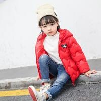 新款儿童轻薄宝宝秋冬季小童短款棉袄外套男童女童羽绒 书包