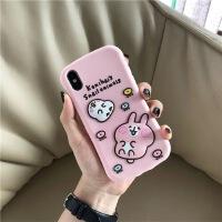 粉色少女心硅胶oppoR15手机壳oppor11/r9/r9s防摔软新款r11splus R11 硅胶-平面粉色兔子