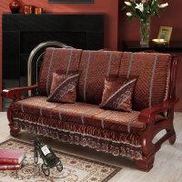 实木沙发垫带靠加厚红木实木沙发坐垫木沙发垫带靠背中式春秋联邦椅防滑海绵垫冬