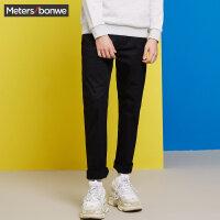 【1件4折到手价:70】美特斯邦威休闲裤男春装新款带细节梭织长裤商场款