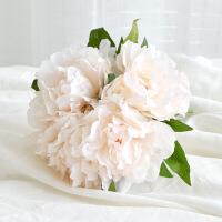 牡丹花假花绣球花仿真花束 欧式花瓶客厅餐桌花艺摆件插花小清新