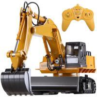 ?无线遥控挖掘机玩具汽车挖土机工程车电动车儿童带充电男孩玩具? 无线遥控 充电版3组电池
