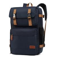 男士双肩包新款多功能背提包17.3寸usb斜跨电脑包大容量背包