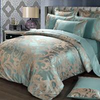 欧式贡缎提花床上用品四件套全棉纯棉床单被套1.8m米床双人欧美风 1.2m床被套150*200 床单160*230