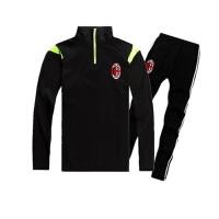 足球训练服长袖套装欧冠皇马巴萨 切尔西AC米兰足球服儿童