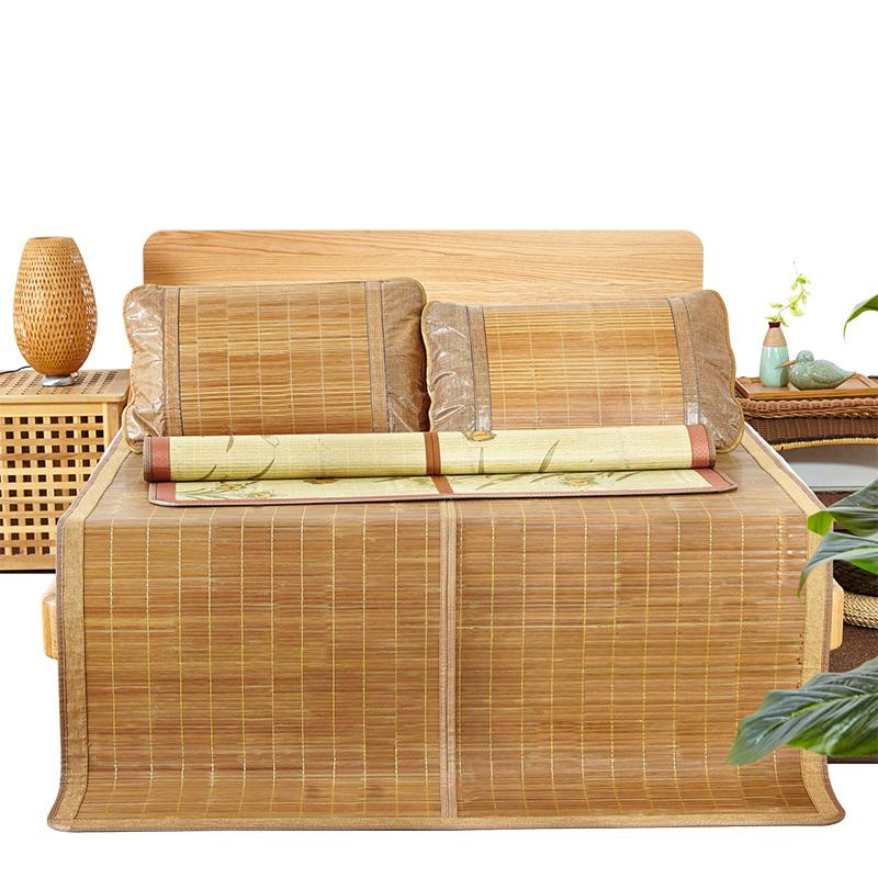 当当优品 天然竹席 双人席子 可折叠碳化镜面夏凉席当当自营 头层竹青 细腻光滑无毛刺 透气排汗 凉而不冰