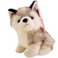 二哈玩偶小号娃娃女孩生日礼物 可爱仿真哈士奇公仔毛绒玩具小狗狗