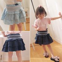 儿童夏季女童高腰短裙半身裙公主裙千层裙