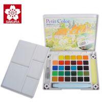 全国包邮荷兰泰伦斯24色透固体水彩套装 樱花24色固体写生水彩颜料