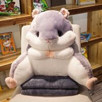 仓鼠学生腰靠椅子护腰枕靠枕靠背靠垫汽车办公室座椅抱枕被子两用 暖手腰枕+毯子 (毯子1×1.7米)