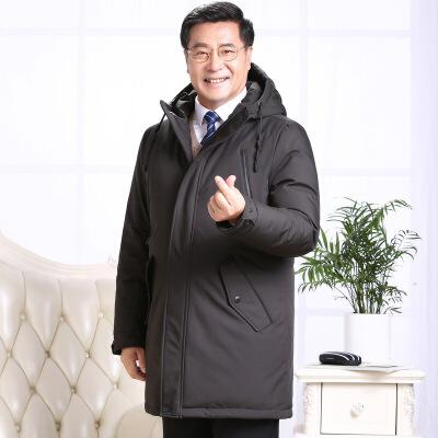 新品中老年羽绒服男士中长款加厚男装毛领大码爸爸装冬装羽绒外套 发货周期:一般在付款后2-90天左右发货,具体发货时间请以与客服协商的时间为准