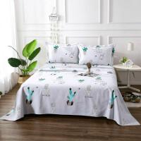 ???纯棉老粗布床单单件加厚被单凉席三件套1.2m1.5m/1.8/2米