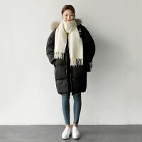 女中长款棉衣bf韩版学生宽松ins面包服棉袄加厚外套
