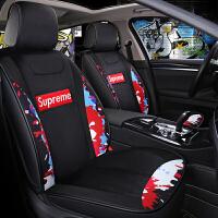 网红汽车坐垫四季通用冬季亚麻卡通可爱女士座垫女神款全包围座套