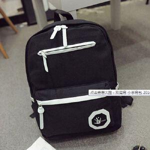 双肩背 小手背包 新款时尚韩版电脑包撞色学生书包