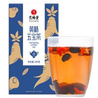 艺福堂 黄精五宝茶桑椹枸杞红枣人参片茶 男性滋补养生肾茶男人茶养生组合茶200g