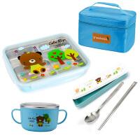 304不锈钢餐盘小学生饭盒儿童餐盒分隔便当盒