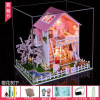 diy小屋手工制作房子拼装模型别墅玩具男女孩圣诞节创意生日礼物