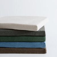 幸阁 舒适纯棉无印慢回弹乳胶坐垫 纯色椅垫座垫榻榻米垫