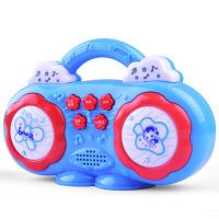 冬己多功能收音机益智早教机 儿童灯光音乐迷你故事机玩具