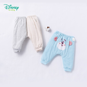 迪士尼Disney童装秋冬新款儿童裤子保暖休闲夹棉卫裤长裤184K798