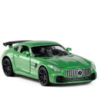 1:32兰博基尼合金汽车模型LP770跑车回力声光玩具车大奔AMG可开门 绿色 奔驰AMGGT