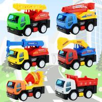 儿童小汽车玩具惯性挖土机消防车吊车 挖掘机搅拌车男孩工程车套装