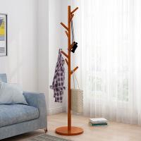 【限时直降3折】天然全实木日式落地衣帽架 实木衣架客厅卧室挂衣架子