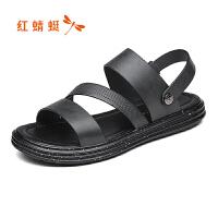 【领�幌碌チ⒓�120】红蜻蜓男鞋夏季新品沙滩凉鞋潮流凉拖鞋个性学生露趾凉鞋