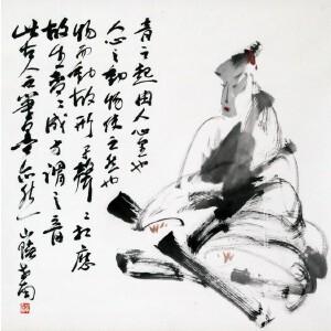 李世南《抚琴图》